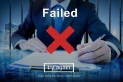 failed, try again